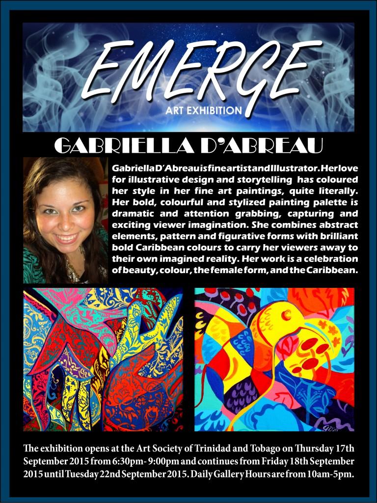 Emerge art Exhibation pr4(Gabriella D'Abreau)
