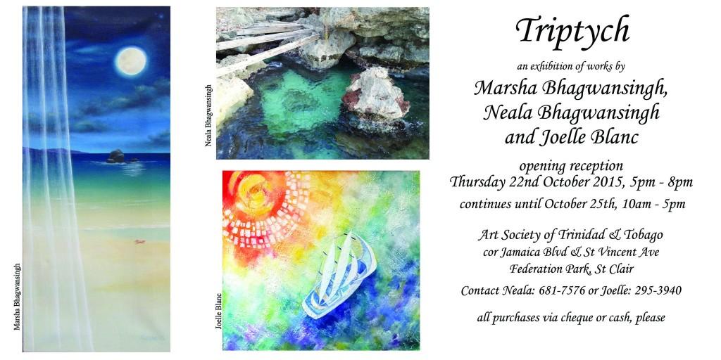 Triptych Invitation - Marsha, Neala, Joelle